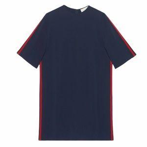NWT Gucci Stretch Viscose Tunic Dress With Web